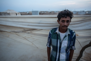 """Mohamed Yahia and his family found themselves rapidly packing and running to the port in Bab El Mendab as the news of the wedding party high death toll was spreading around the villages. The 20 years old fisherman and builder had different hopes for his early twenties than fleeing his native Yemen. """"As I managed to successfully carry a bit of fishing and a bit of building, and both activities were going well, I thought I can start my own family, move into my own space and start helping my parents as they are getting older"""", sighed Mohammed."""