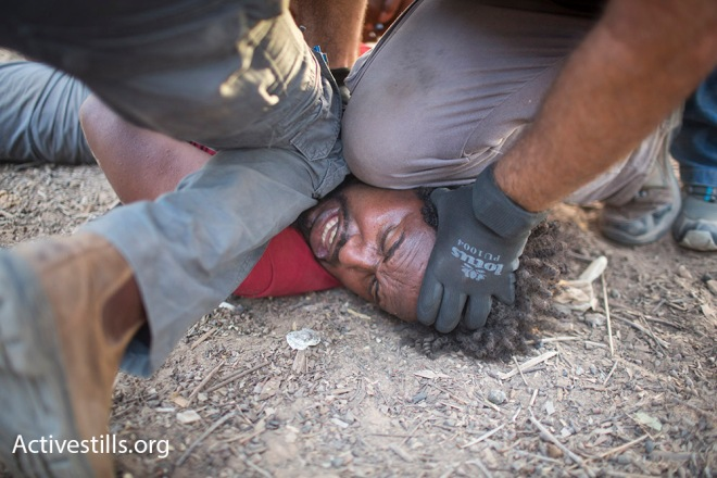 March For Freedom camp on the Israeli-Egyptian border, Israel, 2